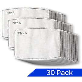 PM2.5 Refill Mask Filters $19.99 for Pack of 30
