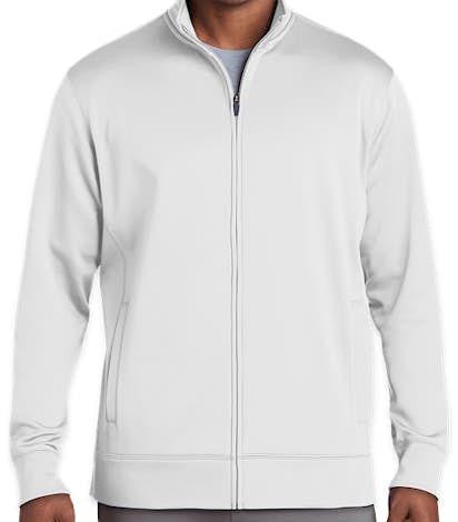 Sport-Tek Sport-Wick Tech Fleece Full Zip Jacket - White