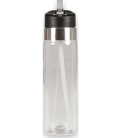 20 oz. Flip Straw Tritan™ Sport Water Bottle - Clear