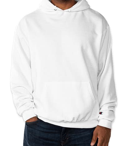 Champion Double Dry Eco Pullover Hoodie - White