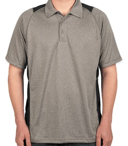 Sport-Tek Contrast Performance Polo - Vintage Heather / Black