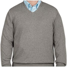 Port Authority V-Neck Sweater - Color: Medium Heather Grey
