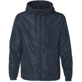 Independent Trading Solid Lightweight Full Zip Jacket