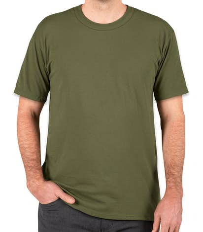Soffe Military 50/50 USA T-shirt - OD Green
