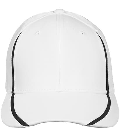 Sport-Tek Flexfit Colorblock Performance Hat - White / Black