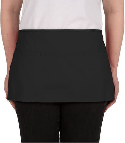 Stain Release Waist Apron - Embroidered - Black