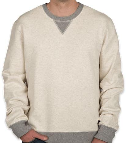Champion Authentic Sueded Fleece Crewneck Sweatshirt - Oatmeal Heather / Oxford Grey