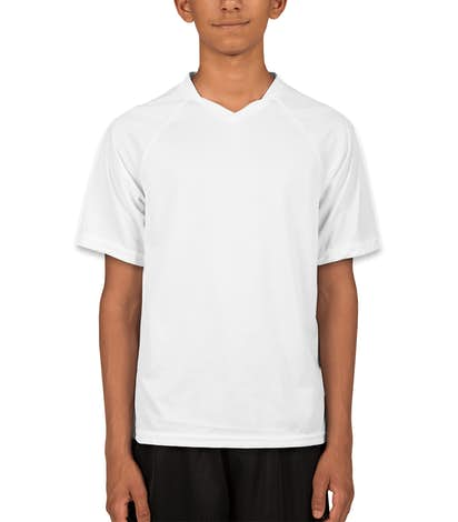 Augusta Youth Striker Performance Soccer Jersey - White / White