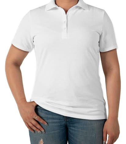 Hanes Women's X-Temp® Fresh IQ Pique Polo - White