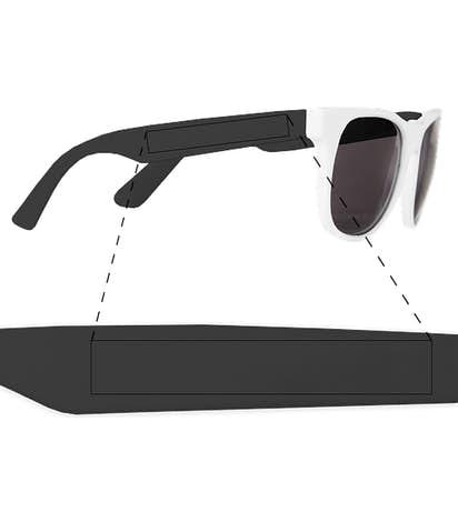 Two-Tone Promotional Sunglasses - White / Black