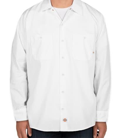 Dickies Lightweight Industrial Long Sleeve Work Shirt - White