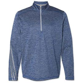 Adidas Brushed Terry Heather Quarter Zip Pullover