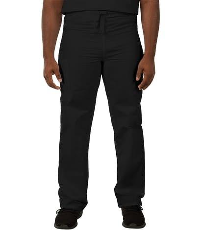 Cherokee Workwear Originals Drawstring Cargo Scrub Pant - Black