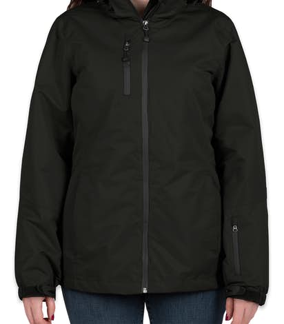 Port Authority Women's 3-in-1 Waterproof Vortex System Jacket - Black / Black