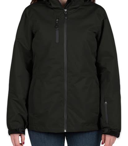 Port Authority Women's 3-in-1 Waterproof Vortex System Jacket - Black / Black