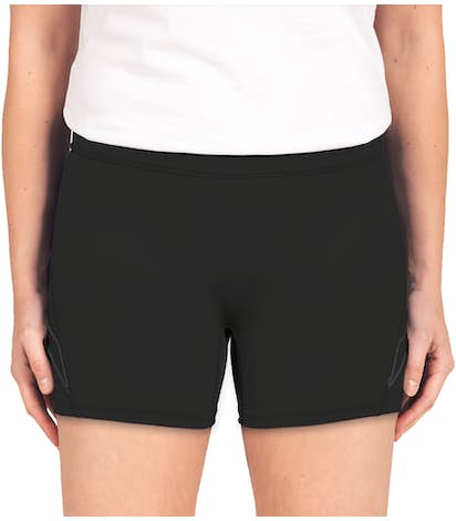 Augusta Women's Contrast Volleyball Short - Black / Black