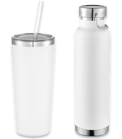 22 oz. Thor Copper Vacuum Insulated Drinkware Gift Set - White