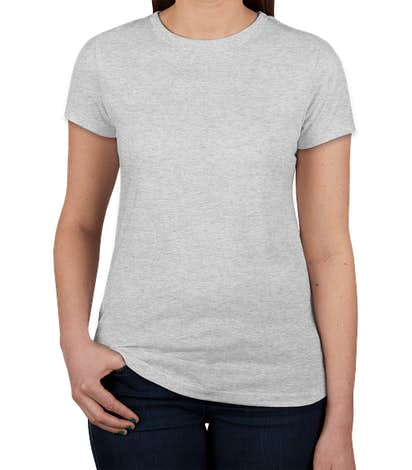 Next Level Women's Slim Fit Tri-Blend T-shirt - Heather White