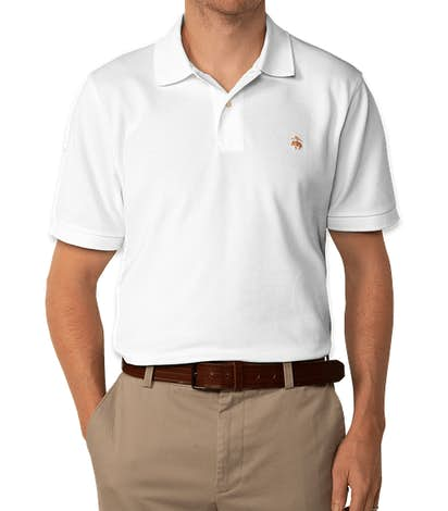 Brooks Brothers Pique Polo - White