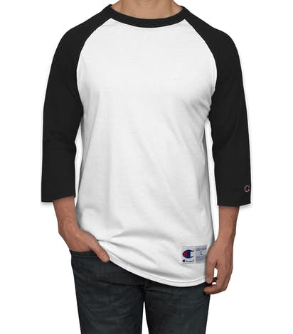 Champion Baseball Raglan - White / Black
