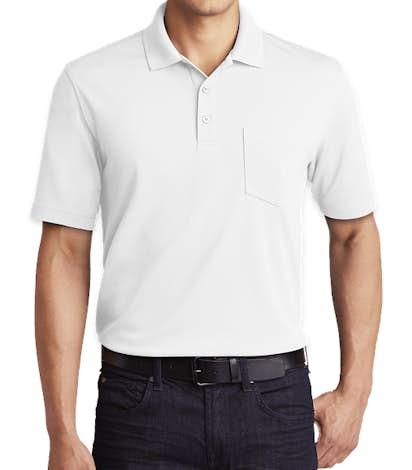 Port Authority Dry Zone Micro-Mesh Pocket Polo - White