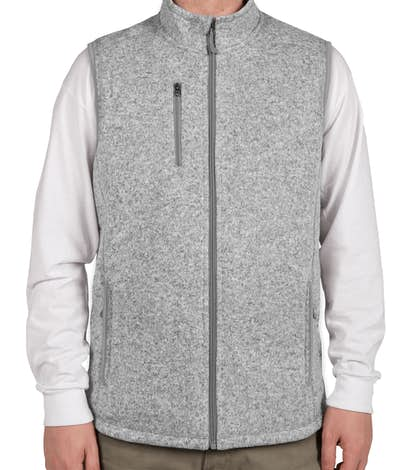 Charles River Sweater Fleece Vest - Light Grey Heather