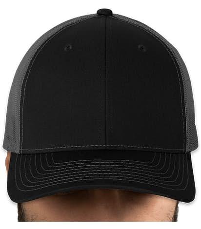 Canada - Richardson Snapback Trucker Hat - Black / Charcoal