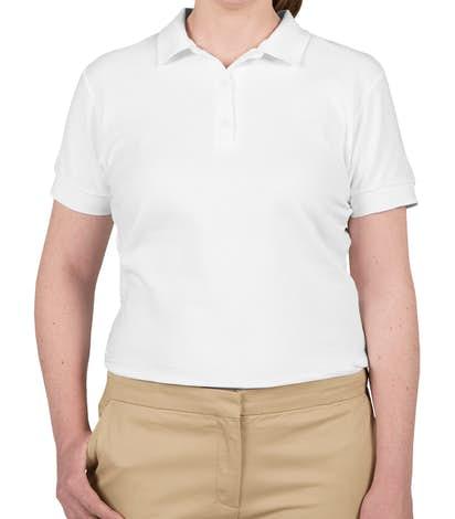 Gildan Women's Double Pique Polo - White
