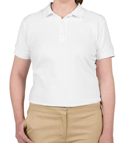 Canada - Gildan Women's Double Pique Polo - White