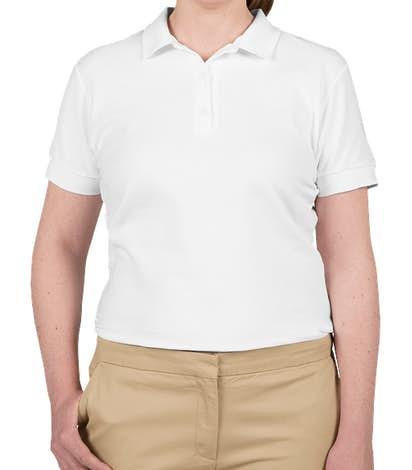 Canada - Gildan Women's Double Pique Polo - White