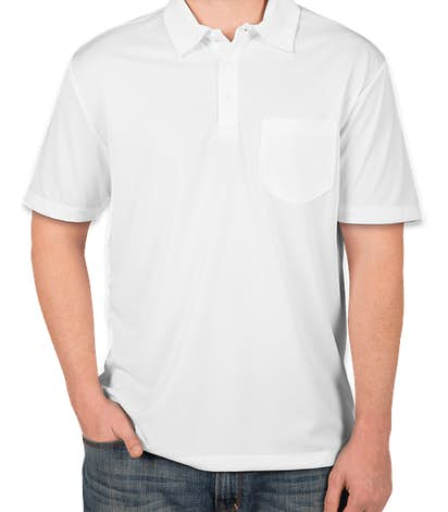 Port Authority Silk Touch Performance Pocket Polo - White