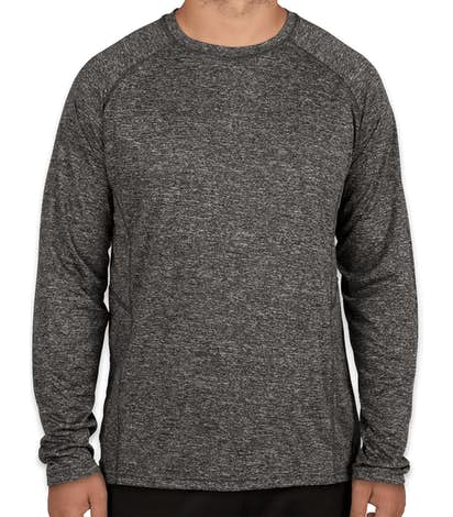 Rawlings Heather Long Sleeve Performance Shirt - Heather Charcoal