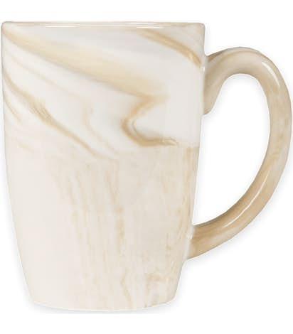 16 oz. Marbled Ceramic Mug - Brown