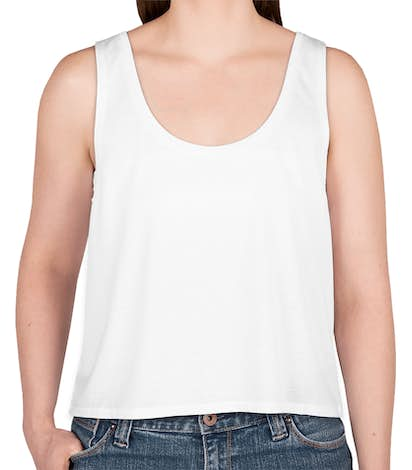 Bella + Canvas Women's Flowy Crop Tank - White