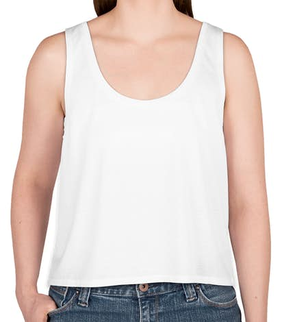 Canada - Bella + Canvas Women's Flowy Crop Tank - White