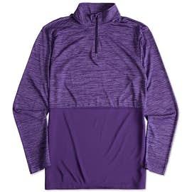 Augusta Tonal Heather Quarter Zip Performance Shirt