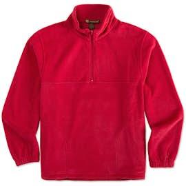 Harriton Quarter Zip Fleece Pullover