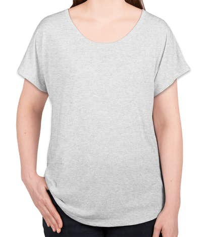 Next Level Women's Tri-Blend Dolman T-shirt - Heather White