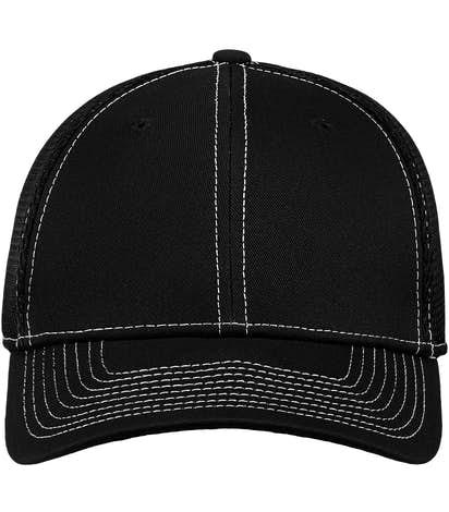 New Era 39THIRTY Contrast Stitch Stretch Fit Mesh Hat - Black / White