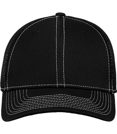 New Era 39THIRTY Contrast Stitch Stretch Fit Mesh Hat - Black / White