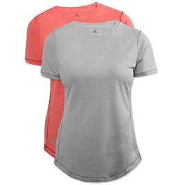 Adidas Women's Heather 100% Recycled UPF Performance Shirt
