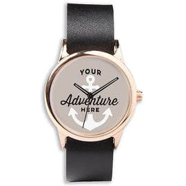 Rose Watch with Leather Band