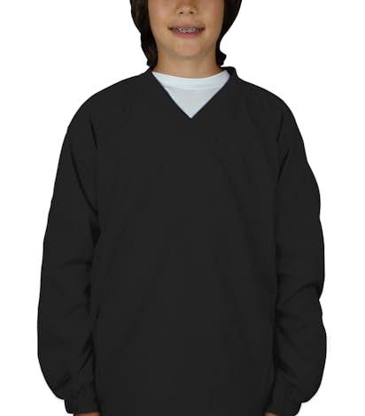 Sport-Tek Youth V-Neck Windshirt - Black