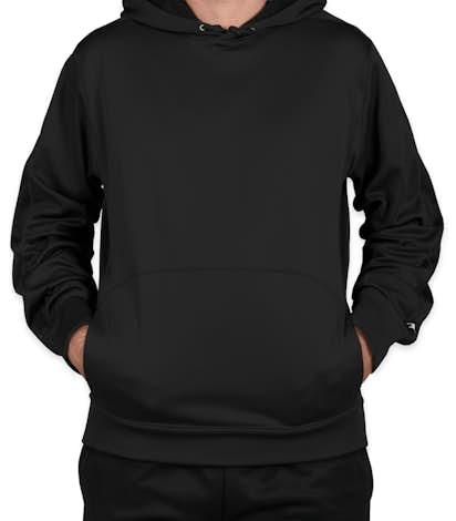 Champion Colorblock Performance Pullover Hoodie - Black / Black