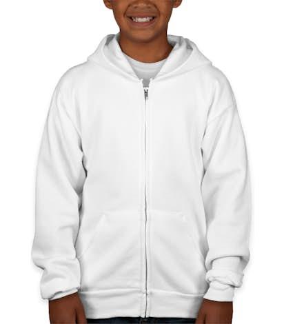 Hanes Youth EcoSmart® 50/50 Zip Hoodie - White