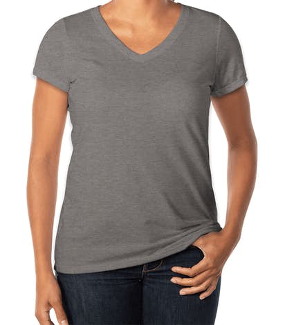 410fef37c0357 Design Custom Printed District Made Ladies Perfect Tri-Blend V-Neck ...