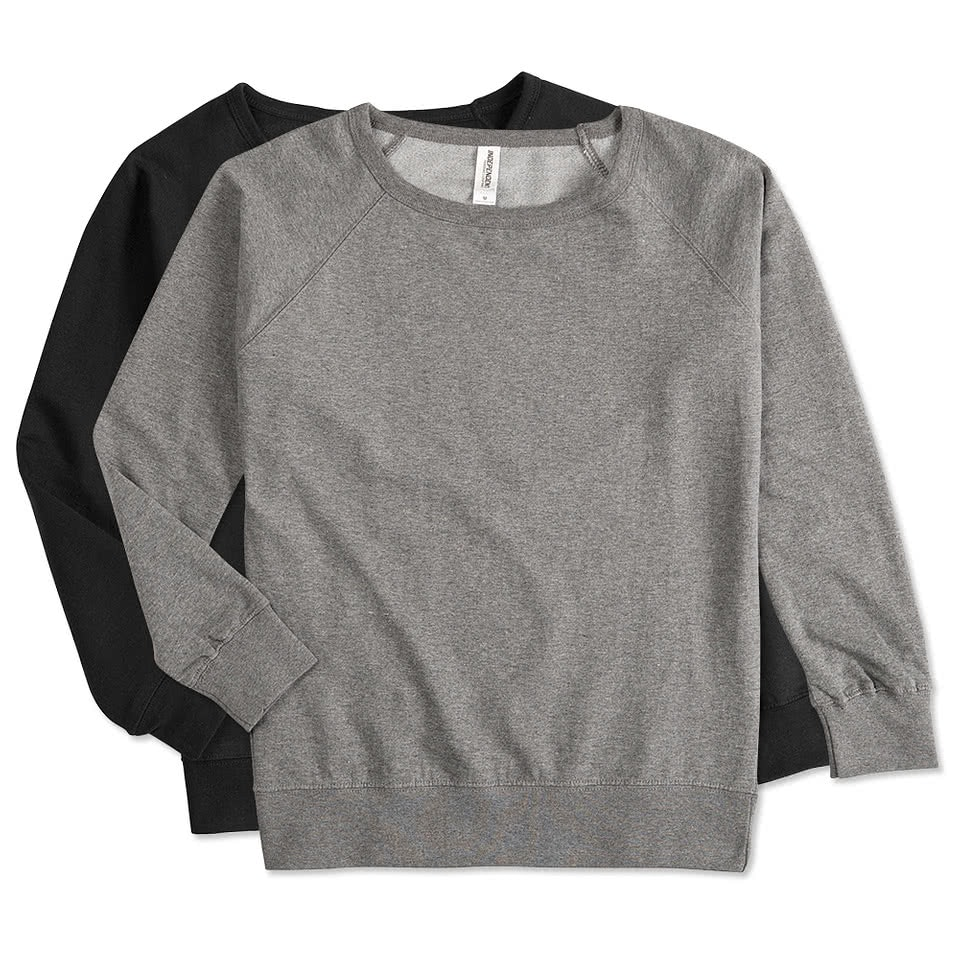 Custom Independent Trading Juniors Lightweight Crewneck Sweatshirt