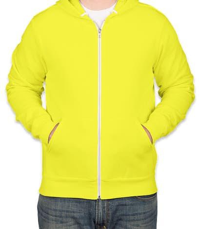 Bella + Canvas Neon Zip Hoodie - Neon Yellow