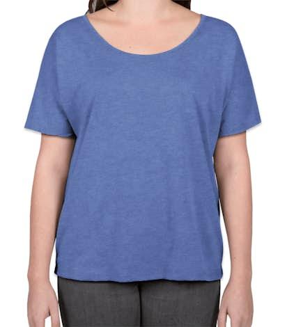 Bella + Canvas Women's Tri-Blend Flowy T-shirt - Blue Tri-Blend