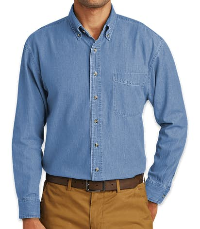 Port & Company Denim Shirt - Faded Blue